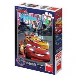 Auta - Neon puzzle 100 XL dílků - neuveden