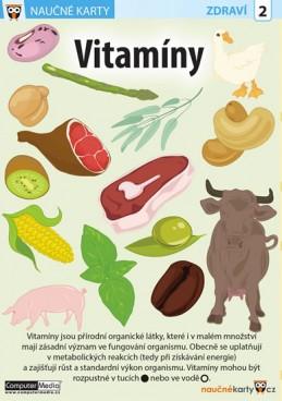 Vitamíny - Naučná karta - neuveden